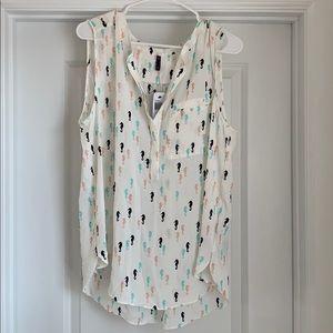NYDJ seahorse blouse